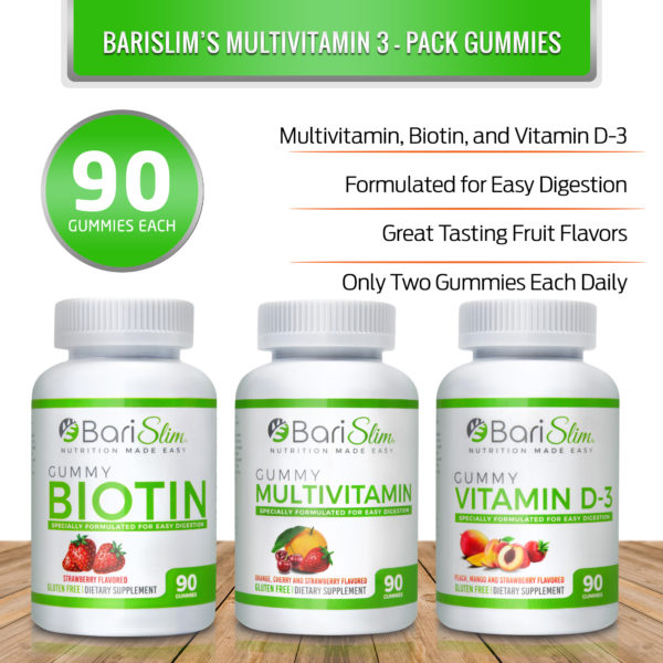 Bariatric Multivitamin Gummy 3 Pack Infographic