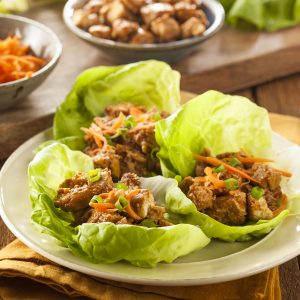 Bariatric Asian Chicken Lettuce Wrap Recipe