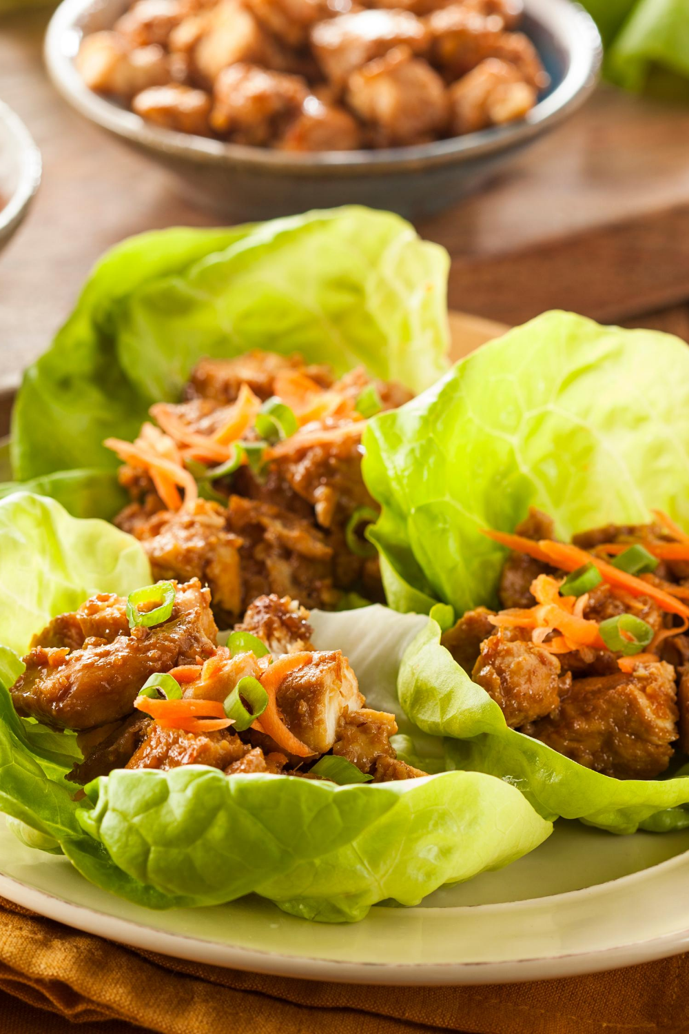 Bariatric Asian Chicken Lettuce Wraps - Bariatric Recipe