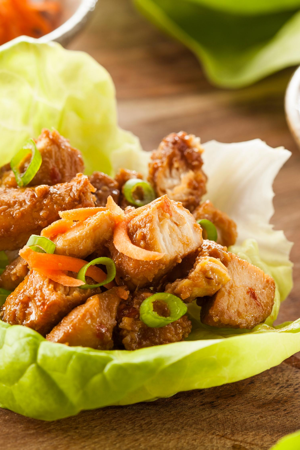 Bariatric Recipe for Asian Chicken Lettuce Wraps